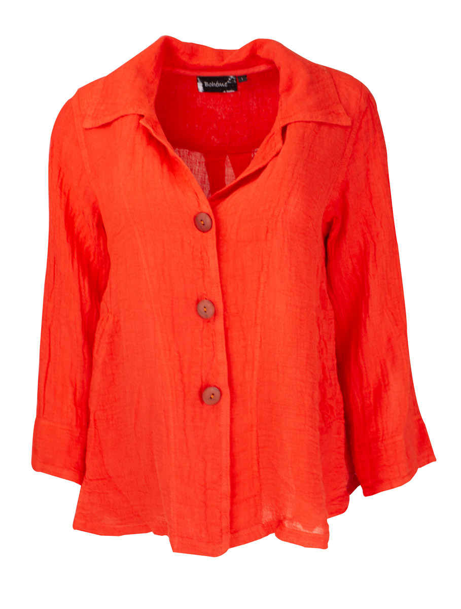 Jacket short orange