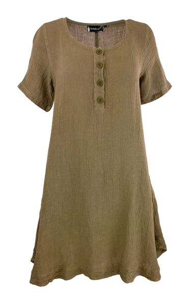 Tunic A-shape w/button
