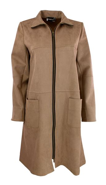 Coat suedine