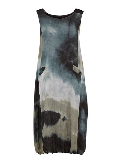 Dress s.s. w/lining multi tie dye
